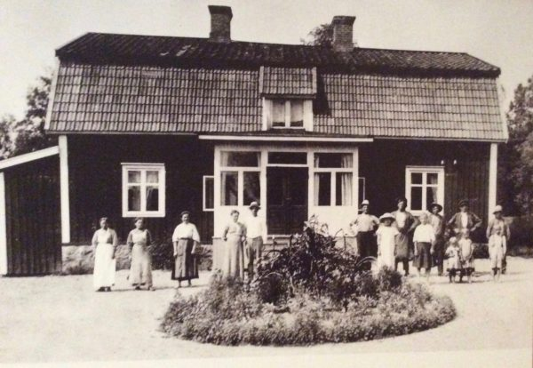 An old photograph of the Astrid Lindgren House in Näs_© Näs