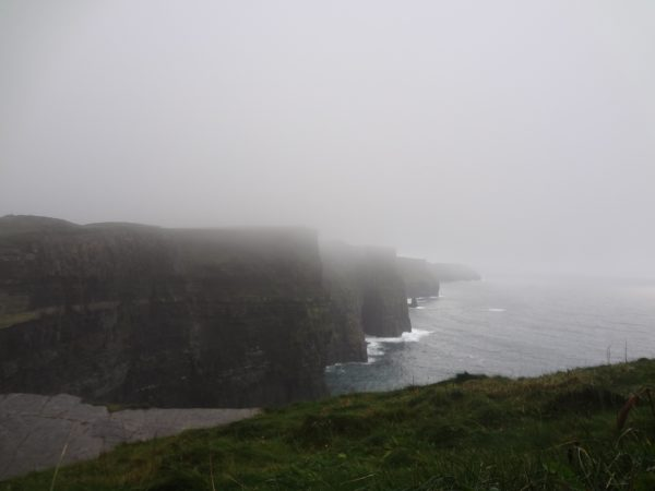 The Cliffs of Moher in the mist