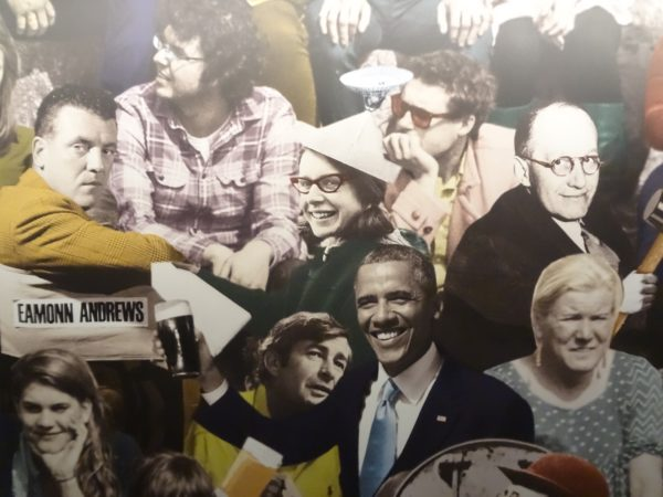 Famous faces with Irish ancestry inside the Emigration Museum EPIC in Dublin