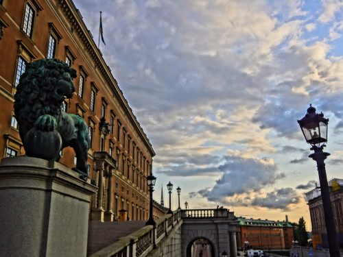 Lion at the Royal Palace, Stockholm, Sweden