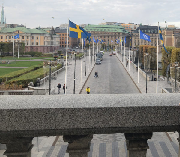 The view from the Royal Balcony