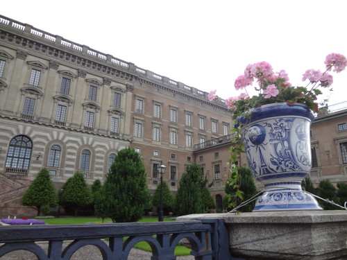 The front side of the Royal Palace in Stockholm